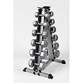 Body Power 5-17.5Kg Hex Dumbbell Set & Rack