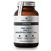 Wild Nutrition Bespoke Man 45+ Food-Grown Daily Multi Nutrient Vegicaps