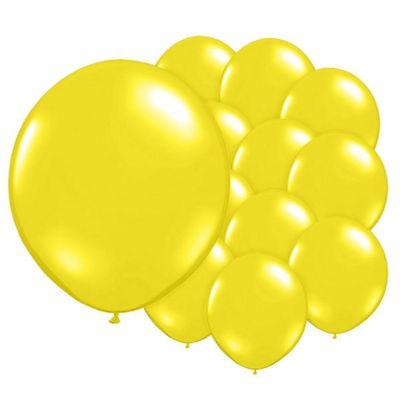 Wild Yellow 5 inch Latex Balloons - 100 Pack