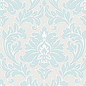 Superfresco Easy Majestic Paste The Wall Damask Duck Egg Wallpaper