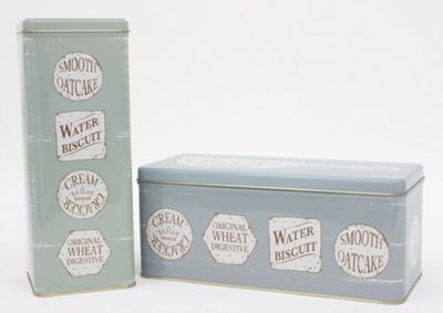 Martin Wiscombe The Specialist Cracker Storage Tins, Set of 2