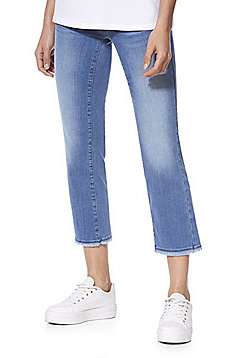 Only Straight Leg Cropped Jeans - Blue
