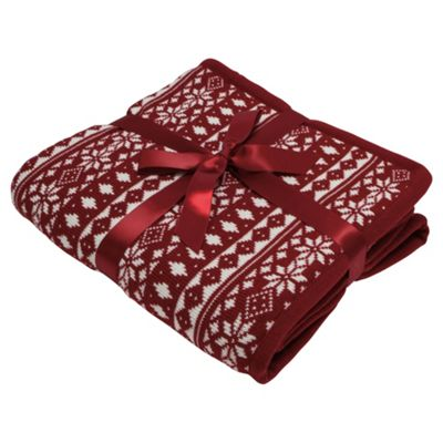Scandi Snow Flake Throw