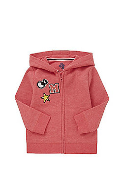 F&F Badge Embroidered Zip-Through Hoodie - Pink