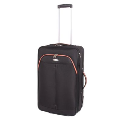 Pierre Cardin Zylo Medium Trolley Case - Black & Orange