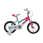 "Ammaco Misty Girls 14"" Wheel Bmx Bike Stabilisers Pink/Baby Blue"