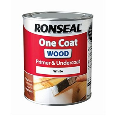 Ronseal One Coat Wood Primer and Undercoat - White - 250ml