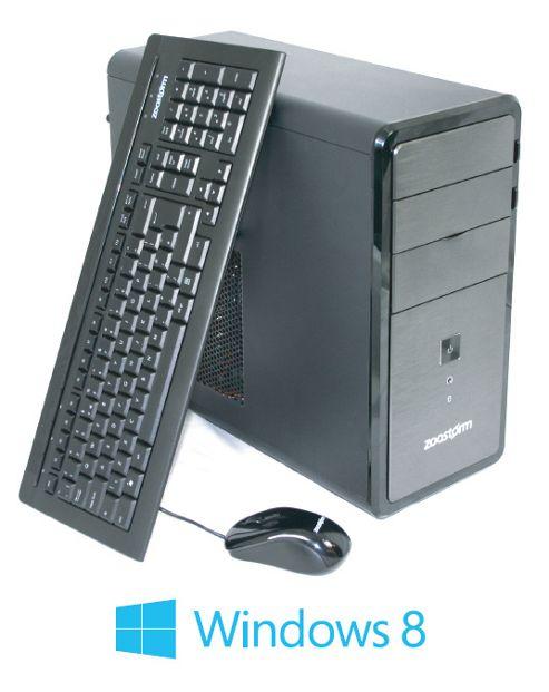 Zoostorm, Intel Pentium Dual Core G850 CPU, 500GB HDD, 4GB DDR3 Ram, DVDRW, nVidia GT620 1GB Dedicated Graphics, Windows 8 64bit.