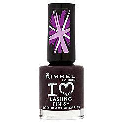 Rimmel London I Love Lasting Finish Nail Polish 193 Black Cherries