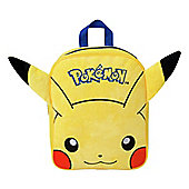 Pokemon Pikachu Plush Front Backpack