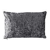 Bahne Grey Velvet Rectangular Cushion designed by Margit Brandt 60 x 40 cm