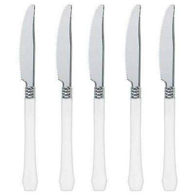 White Premium Plastic Knives - 20 Pack