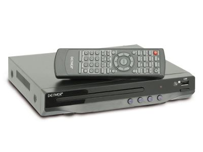 Compact, Multi Region DVD Player with USB - Denver DVU-7782