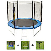 Up and About 8ft Stormpower Blue Trampoline Package with Free Ladder, Weather Cover and Building Tool