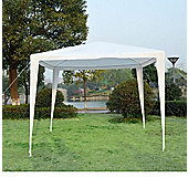 Outsunny 2.7m x 2.7m Garden Gazebo Marquee Outdoor(White)