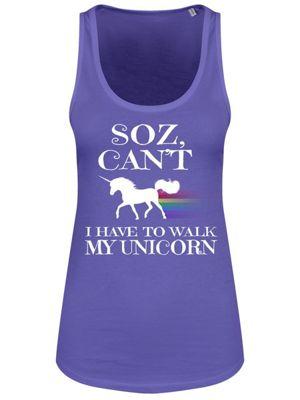 I Have To Walk My Unicorn Women's Floaty Tank Vest, Purple