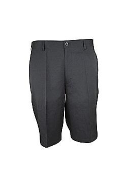 Woodworm Dryfit Flat Front Golf Shorts - Black