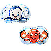 Raz-baby Keep It Clean Pacifier Bundle - Fish Design And Penguin Design - 2 Items Supplied