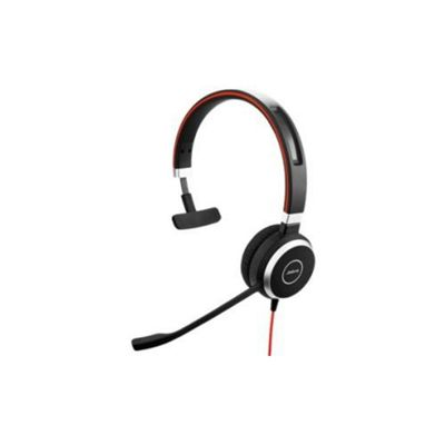 Jabra EVOLVE 40 Wired Mono Headset - Over-the-head - Supra-aural