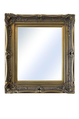 Large Gold Ornate Antique Shabby Chic Wall Mirror 2Ft11 X 2Ft7, 89Cm X 79Cm