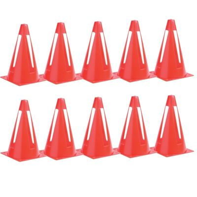 Collapsible Flexi Space Safety Football Rugby Training Marker Cones (Set of 10)