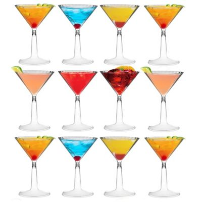 Plastic Cocktail Outdoor Martini Glass - 170ml (6oz) - Pack Of 12