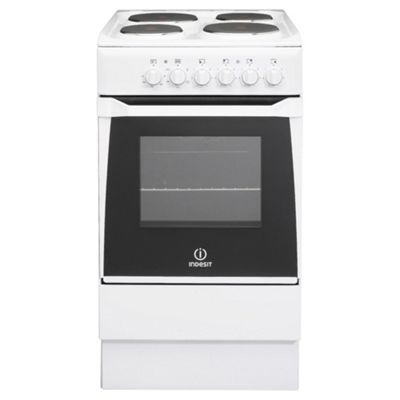Indesit IS50E(W)S White Electric Cooker, Single Oven
