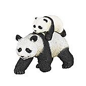Panda And His Baby - Wild Animals - Papo