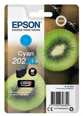 Epson 202XL 8.5ml 650pages Cyan ink cartridge 650 pages