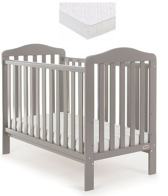 Obaby Ludlow Cot and Sprung Mattress - Taupe Grey