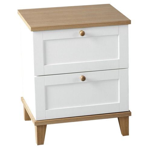 Home Essence Penzance 2 Drawer Bedside Table