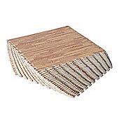 Homcom Interlocking EVA Foam Wood Grain Floor Mats (Dark wooden, 64 SQ FT / 16 Mats)
