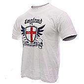 England Adults Football T-Shirts - White