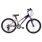 "Ammaco Gran Cru 24"" Wheel Front Suspension MTB Bike Purple"