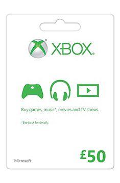 Xbox Gift Card FPP English UK 50 GBP