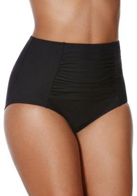 F&F Shaping Swimwear High Waisted Bikini Briefs 14 Black