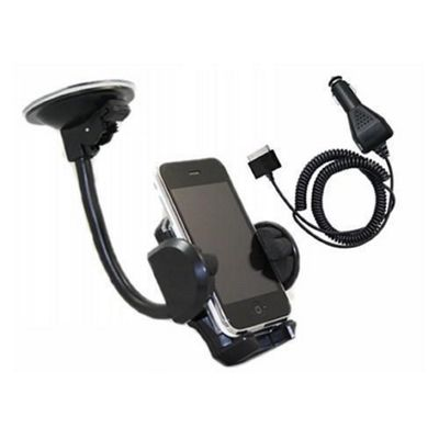 iTALKonline In Car Universal Suction Mount Holder & Car Charger - For Apple iPhone 3G 3GS