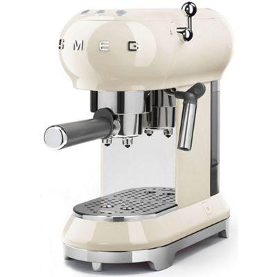 Smeg 1950's Retro Style Espresso Coffee Machine & Steamer in Cream