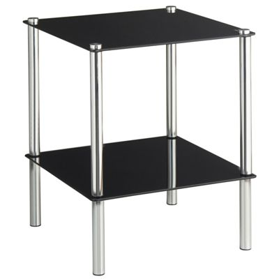 VonHaus 2 Tier Glass End Table / Side Shelf