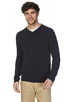 F&F Soft Touch V-Neck Jumper - Navy