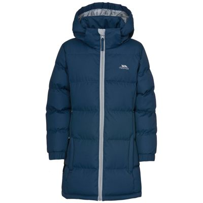 Trespass Girls Tiffy Long Coat Navy 7-8