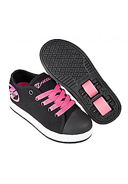 Heelys Fresh Black/Hot Pink Kids HX2 Heely Shoe - Black