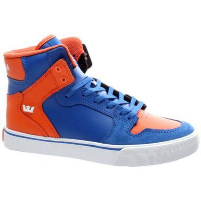 Supra Vaider Blue/Orange/White Kids Shoe