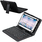 Navitech Black Micro USB Keyboard Case Cover For Acer Iconia One B3-A40 10