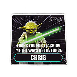 Star Wars Personalised Father's Day Yoda Coaster