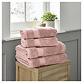 Fox & Ivy 4 Piece Egyptian Cotton Rose Pink Towel Bale