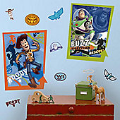 Disney Toy Story Buzz and Woody Giant Poster Wall Stickers
