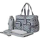 OiOi Carry All Nappy Change Bag -Smokey Blue Eclipse Dot Carry All (6682)