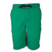 Mountain Warehouse Mens Beach Shorts with Polyester Durable and Soft Ventilated - Green