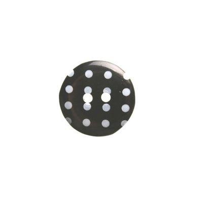 Hemline Black Polka Dot Buttons 15mm 6pk
